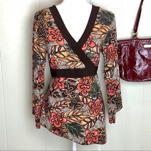 Fashion bug floral boho Large shirt blouse 14- 16